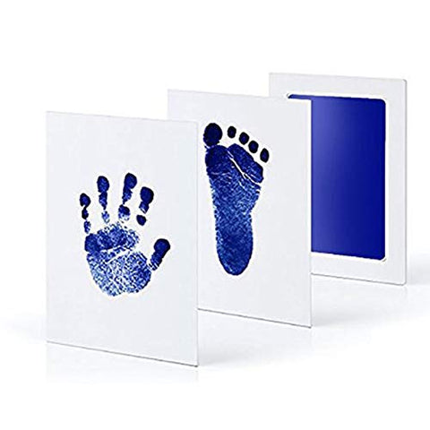 Fancydresswale Inkless 0-12 Months for Baby Handprint and Baby Footprint Ink Pad with Imprint Cards 100% Non-Toxic & Mess Free Safe for Newborn Baby and Toddlers (Red, 0-12 Months)