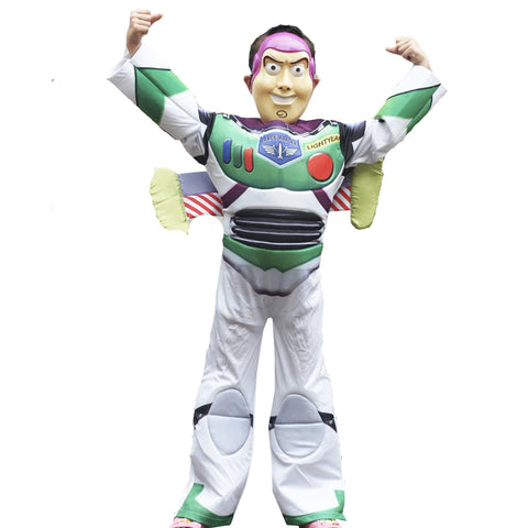 Buzz Lightyear toy story Costume for halloween costume Deluxe Children Fancy Dress Costume
