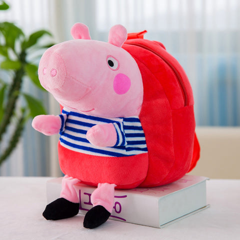 fancydresswale Peppa Pig bag for baby boy and Girls- Kindergarten plush bag- Red