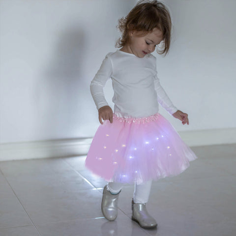 FancyDressWale Unicorn Pink Tutu LED Skirt and Top Birthday Dress for Girls-A4