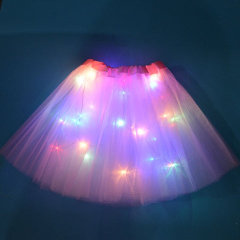 FancyDressWale Unicorn Pink Tutu LED Skirt and Top Birthday Dress for Girls-A8