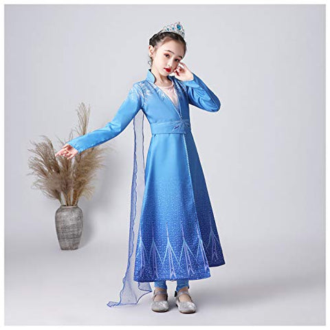 Party Princess Frozen elsa Dress for Girls