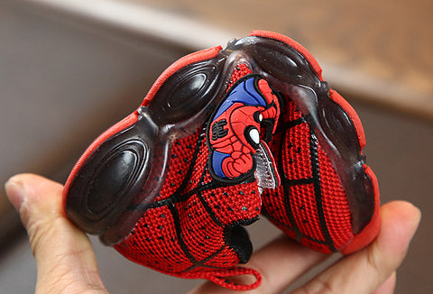 Spiderman Glowing Shoes for Kids with Light-Red