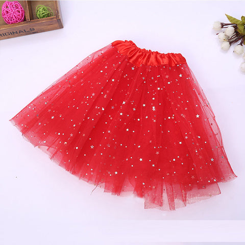 FancyDressWale Unicorn Red Tutu LED Skirt and Top Birthday Dress for Girls-B4