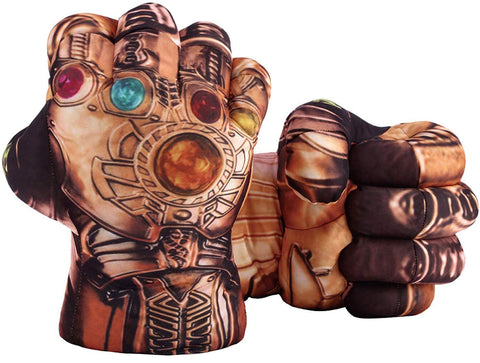Thanos Smash Hands, 1 Pair of Soft Boxing Gloves Fist Hand Plush Incredible Avengers Toy for Kids and Adult Gifts