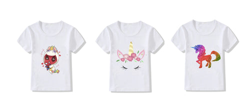 Unicorn T-shirts for girls - set of 3 Beautiful costumes