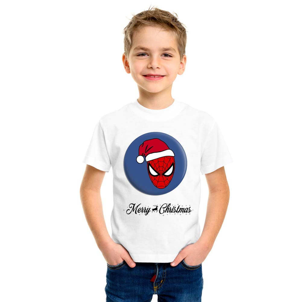 Christmas T-Shirt for Boys & Girls- Unisex with X-MAS Santa Claus Cap