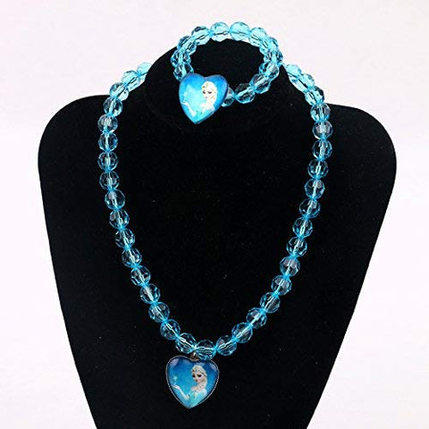 Frozen Party Flavour Necklace and Bracelet Set- Elsa