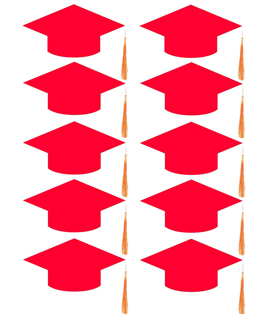Convocation Cap for Kids, red