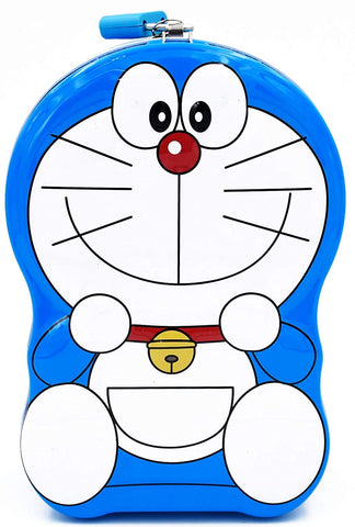 Doraemon Metal Body Piggy Bank Saving Money Box for Kids with Lock and Key