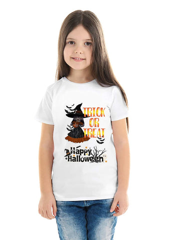 Halloween T-Shirts Dress For Girls H14