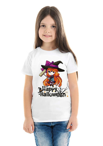 Halloween T-Shirts Dress For Girls H13