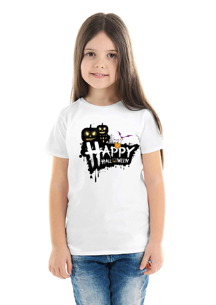 Halloween T-Shirts Dress For Girls H1