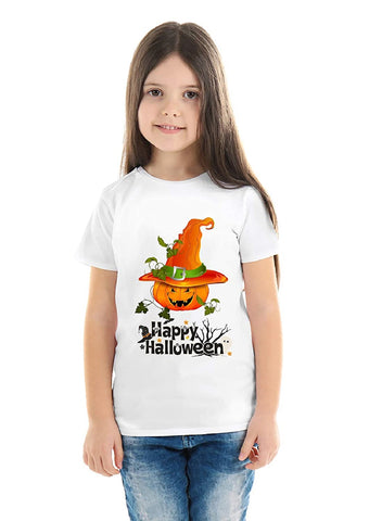 Halloween T-Shirts Dress For Girls H3