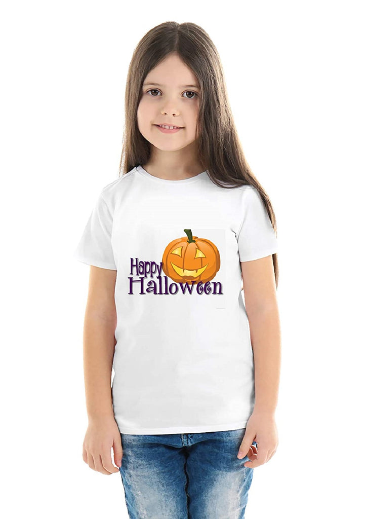 Halloween T-Shirts Dress For Girls H4