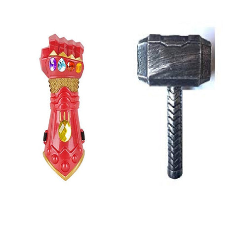 Avengers the End Game Thanos Gauntlet with Thor Hammer