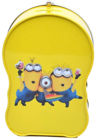 Minion Metal Body Piggy Bank Saving Money Box for Kids with Lock and Key
