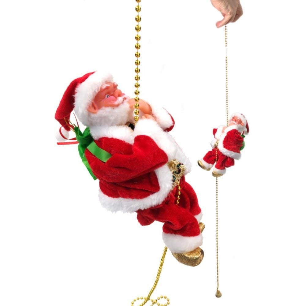 Santa Claus Musical Climbing Rope Christmas Decoration Christmas Gift