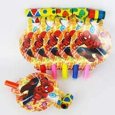Spiderman Theme Birthday Party Supply Mega Pack for 12 Guests (16 Items, 176 Pieces)