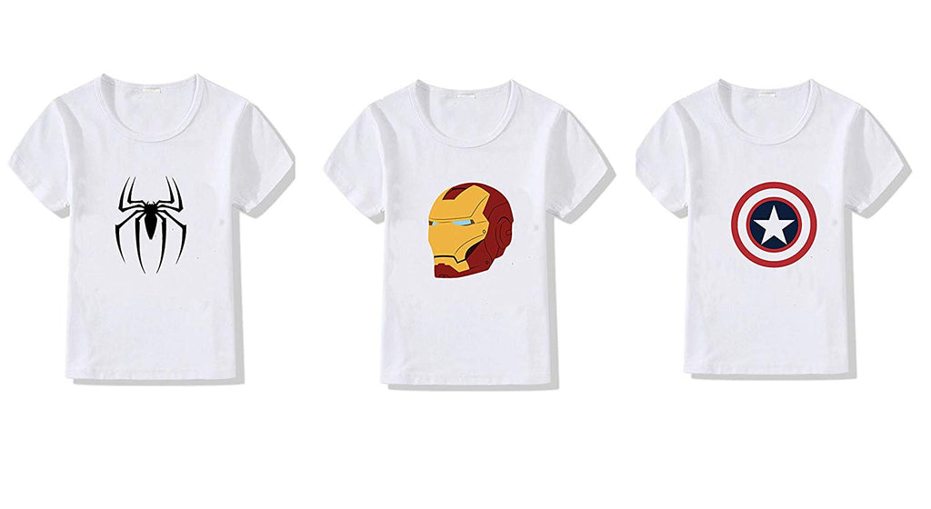 Superhero T-Shirts for Kids Pack of 3
