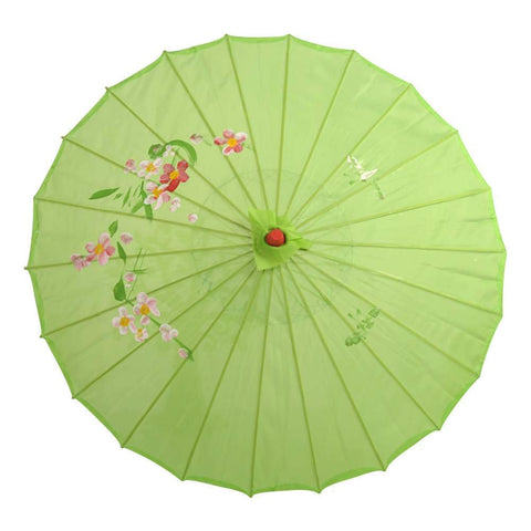Kids Size Japanese Chinese Umbrella for Wedding Parties, Photography, Costumes, Cosplay, Decoration and Other Events (Green)