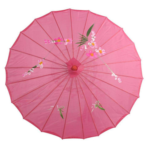Kids Size Japanese Chinese Umbrella for Wedding Parties, Photography, Costumes, Cosplay, Decoration and Other Events (Hot Pink)