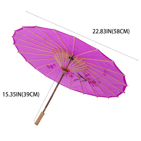 Kids Size Japanese Chinese Umbrella for Wedding Parties, Photography, Costumes, Cosplay, Decoration and Other Events (Purple)