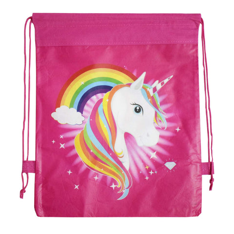 Unicorn Theme Dori Haversack Goodies Bag (Pink) - Pack of 12 Pieces