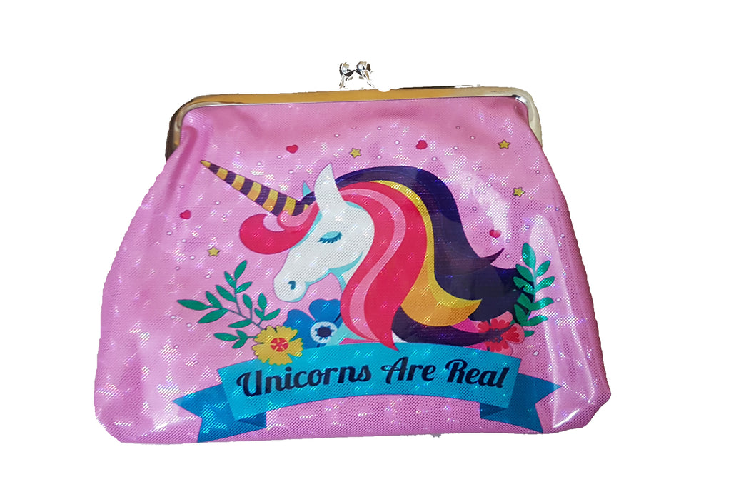 Unicorn Cross Body Shoulder Hand Coin Purse For Kids Sling Bag