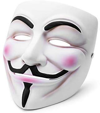 Vendetta Mask Guy Fawkes Halloween Masquerade Party Face March Protest