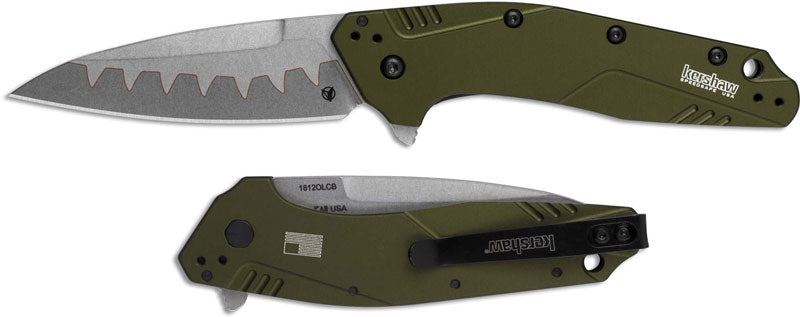"Kershaw Dividend Assisted Opening Knife Olive (3"" Composite) 1812OLCB"