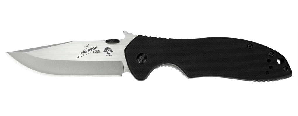 "Kershaw Emerson CQC-6K Frame Lock Knife Black G-10 (3.25"" Black) 6034"