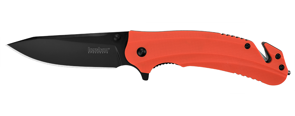 "Kershaw Barricade Assisted Opening Knife Orange (3.5"" Black Oxide) 8650"