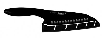 "Kai Pure Komachi 2 6.5"" Hollow-Ground Santoku Knife (Black) AB5085"