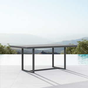 "Pavia | 71"" Dining Table - Charcoal - Azzurro Living"