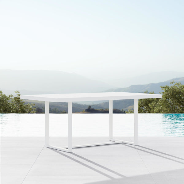 "Pavia | 71"" Dining Table - White - Azzurro Living"