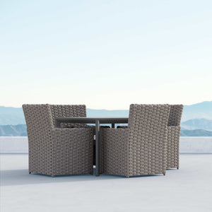 "Porto | 43"" Dining Table - Charcoal - Azzurro Living"