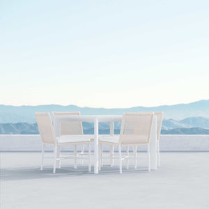 "Porto | 43"" Dining Table - White - Azzurro Living"