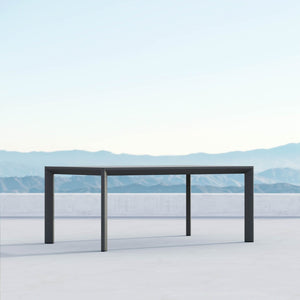 "Porto | 72"" Dining Table - Charcoal - Azzurro Living"