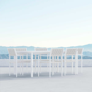 "Porto | 72"" Dining Table - White - Azzurro Living"