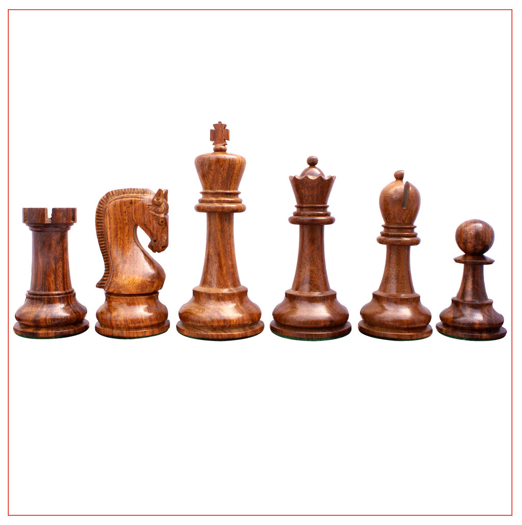 "Leningrade Series 4"" Shesham Wood Staunton Chess Set"