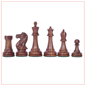 "Verona Series 4"" Premium Staunton Golden Rose wood Chessmen"