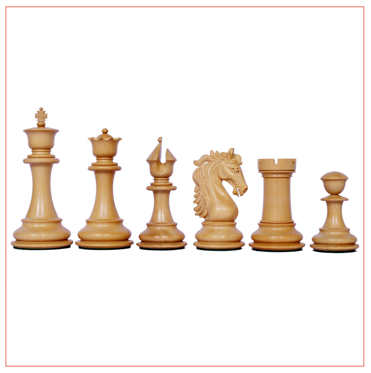 "Heritage Series Ebony Staunton 4.4"" Chess Set"