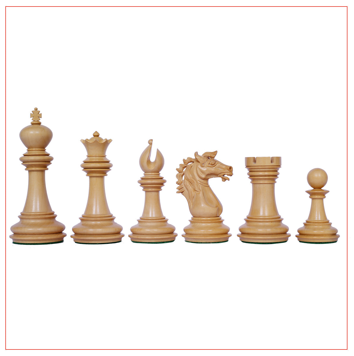 "Regal Series 4"" Ebony Wood Staunton Chess Set with Board"