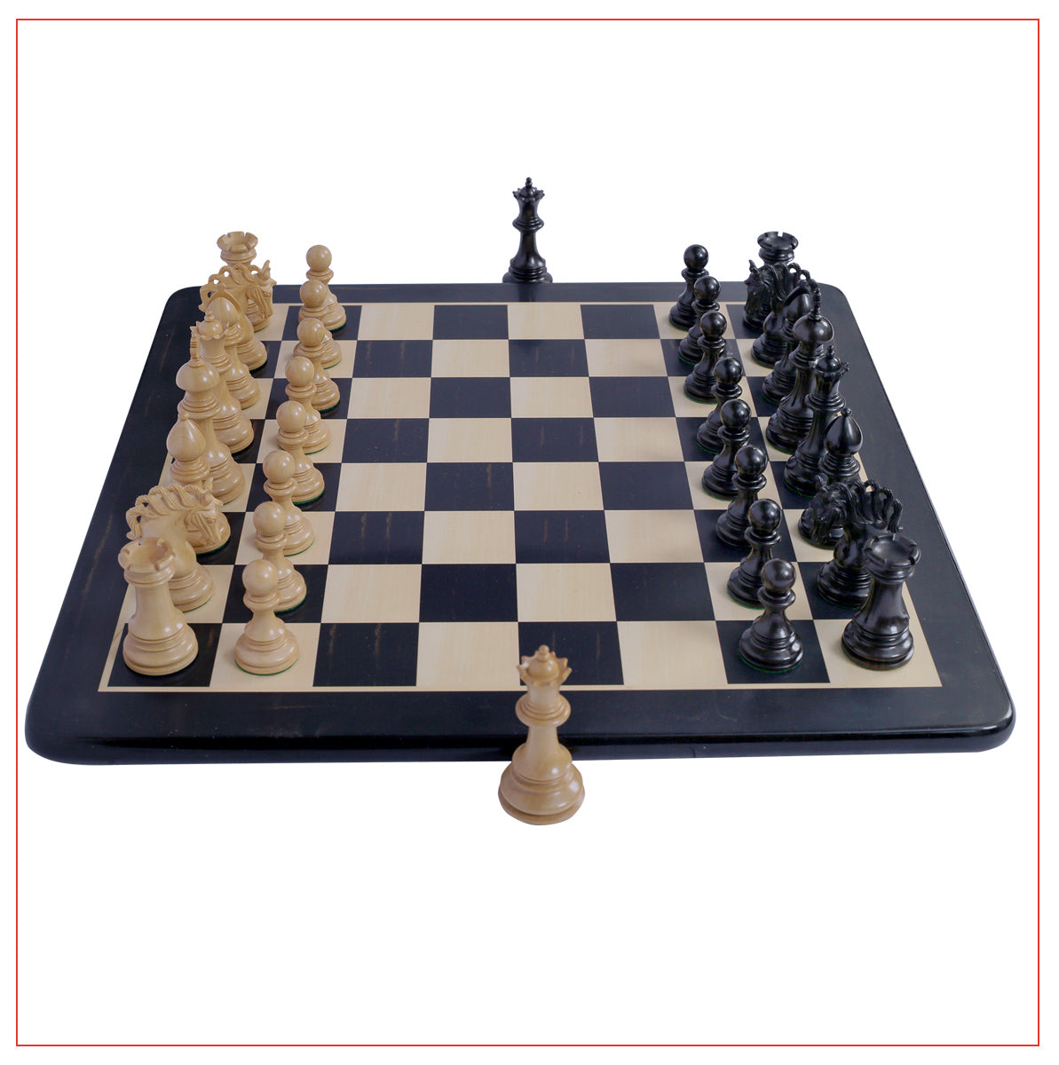 "Westminster Series 4.4"" Staunton Chess Set - Ebony Wood"