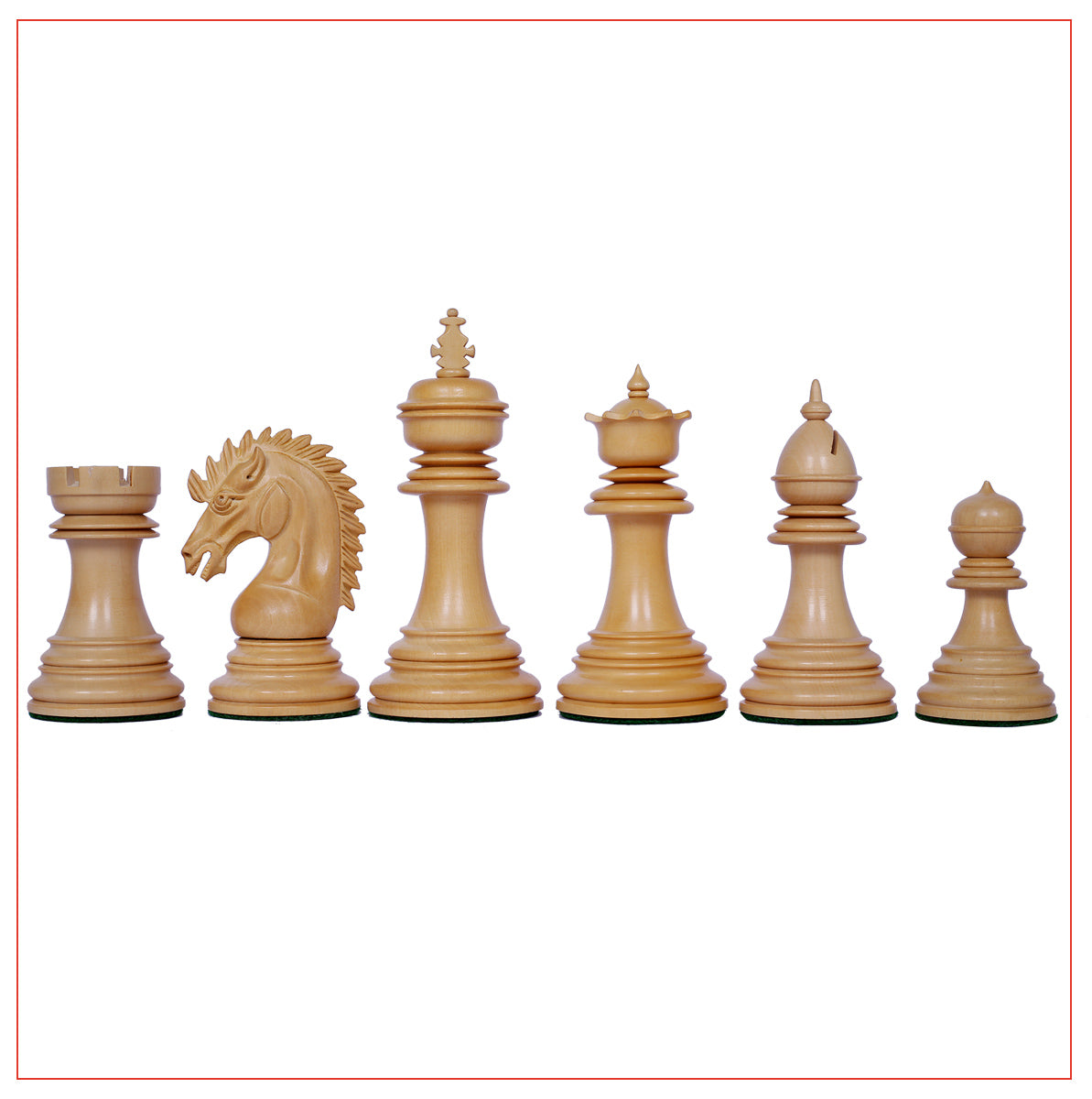 "Thebes Series Premium Staunton 4.4"" Chess Set in Padouk wood"