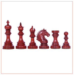 "Patras Series 4"" Padouk Wood Staunton Chess Set"