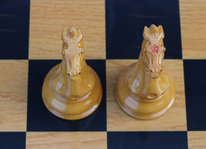 "Morphy Cooke 1849-50 Vintage Reproduction 4.4"" Antiqued Look Chess Set"