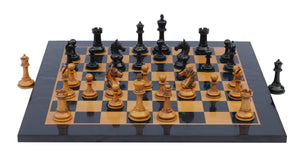 "Antique Look Chess Board with Square size 2.25"" X 2.25"" Square size in antiqued Box wood and Ebony wood Look"