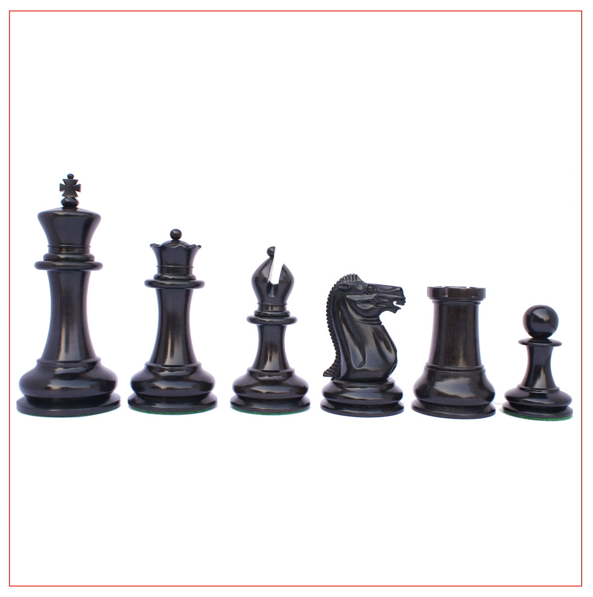 Jaques Reproduction Circa 1870-75 Staunton Chessmen With Presentation Box